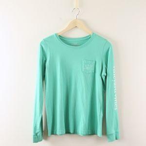 Vineyard Vines Long Sleeve Pocket Whale Tee Shirt